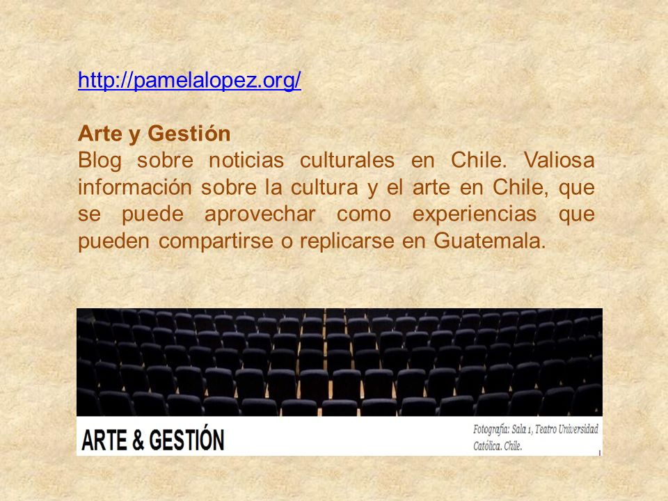 http://pamelalopez.org/ Arte y Gestión