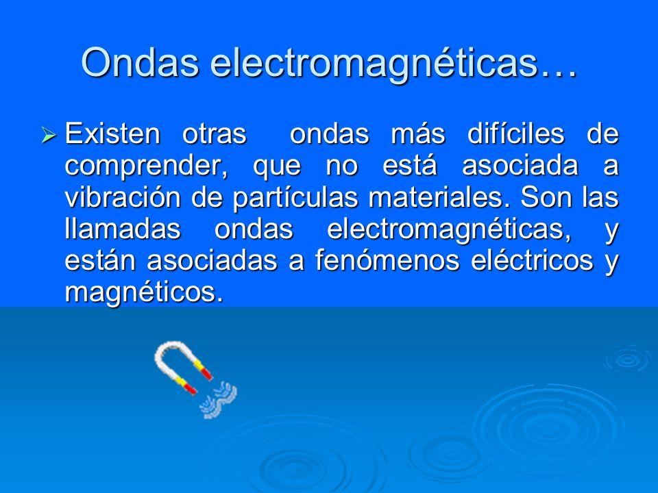 Ondas electromagnéticas…