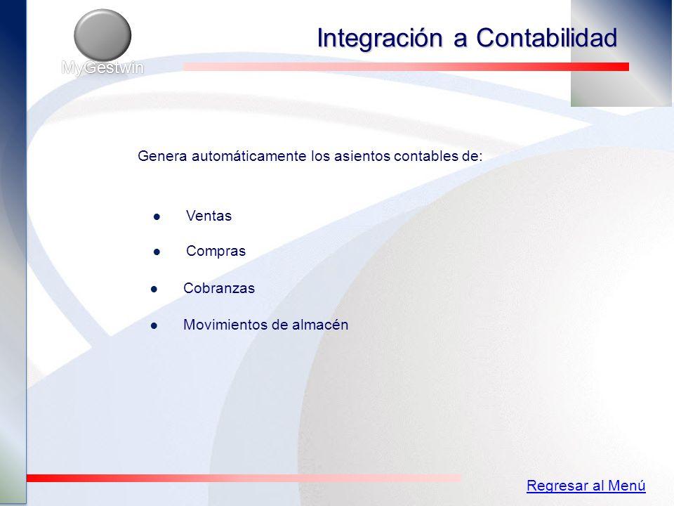 Integración a Contabilidad