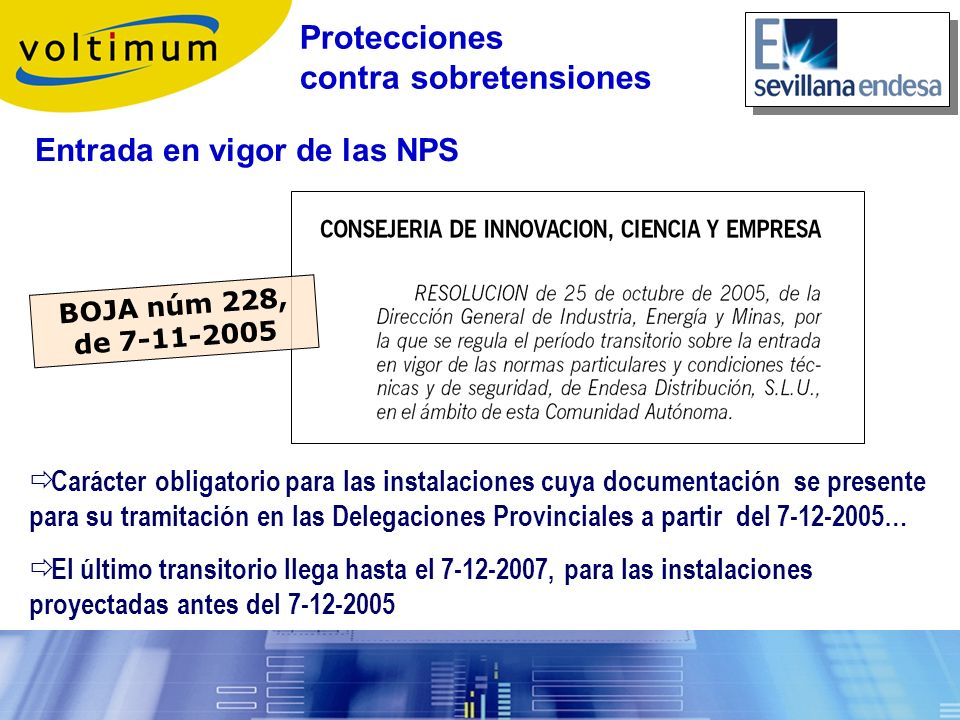Protecciones contra sobretensiones