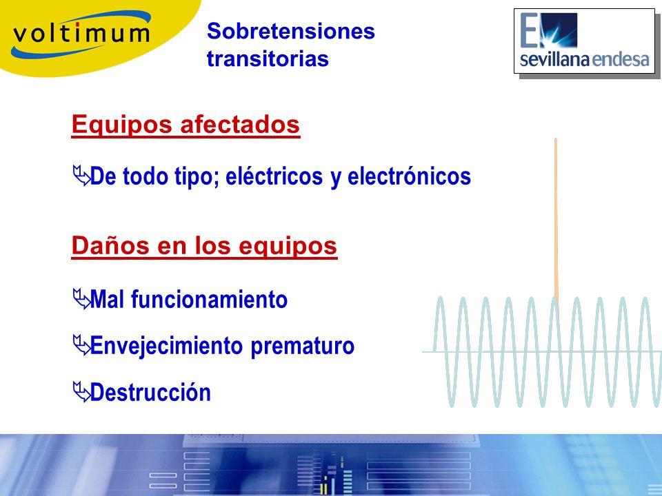 De todo tipo; eléctricos y electrónicos Daños en los equipos