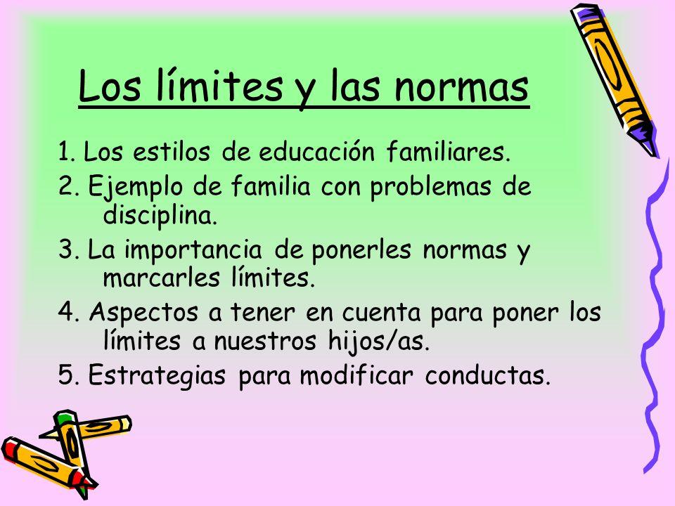 Los límites y las normas