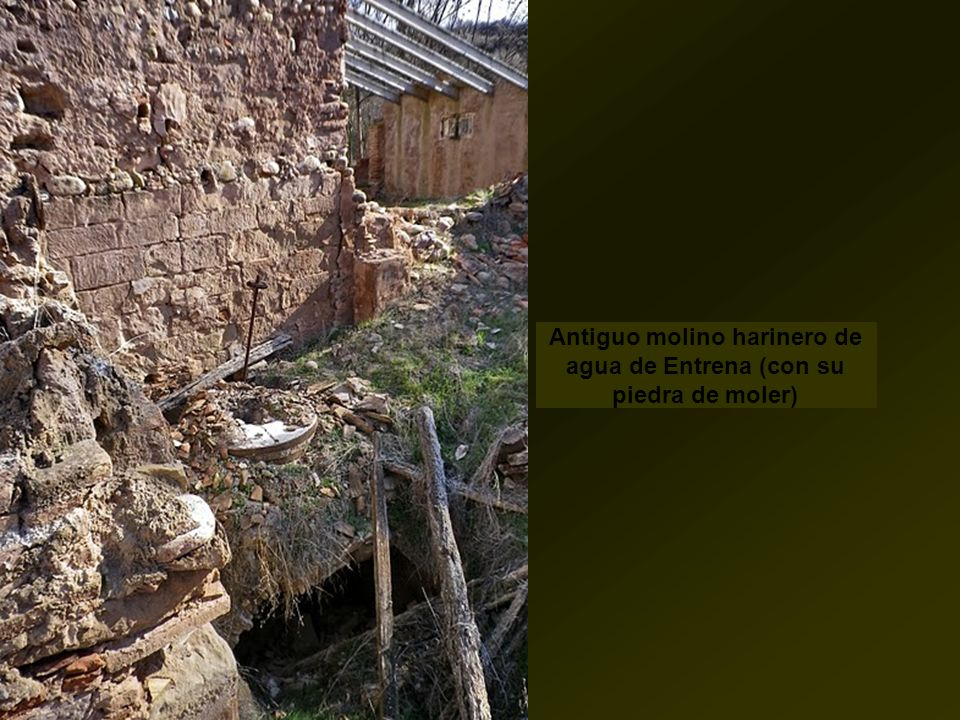 Antiguo molino harinero de agua de Entrena (con su piedra de moler)