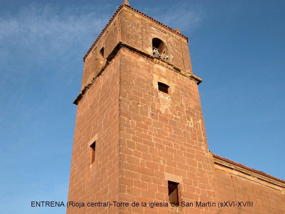 ENTRENA (Rioja central)-Torre de la iglesia de San Martín (sXVI-XVIII