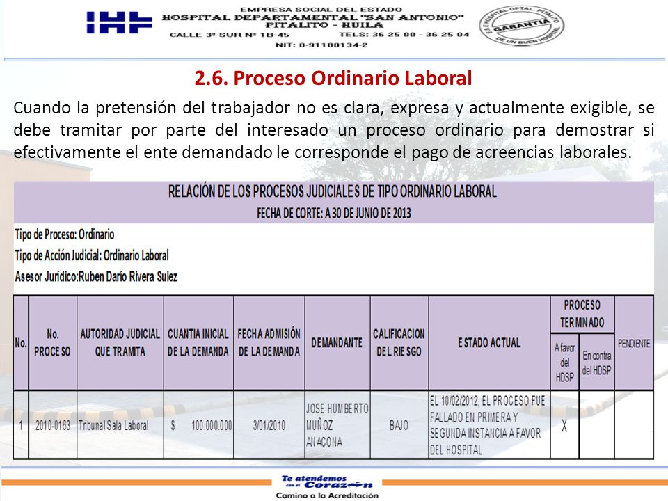 2.6. Proceso Ordinario Laboral