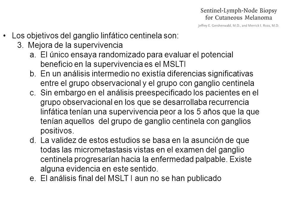 Los objetivos del ganglio linfático centinela son: