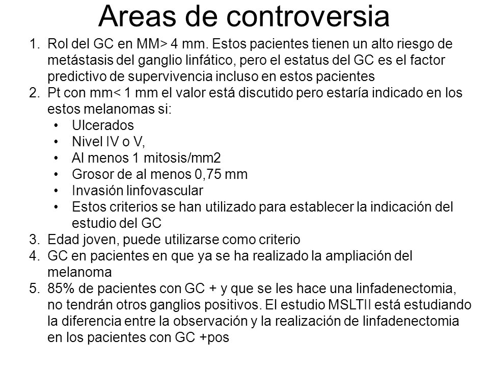 Areas de controversia