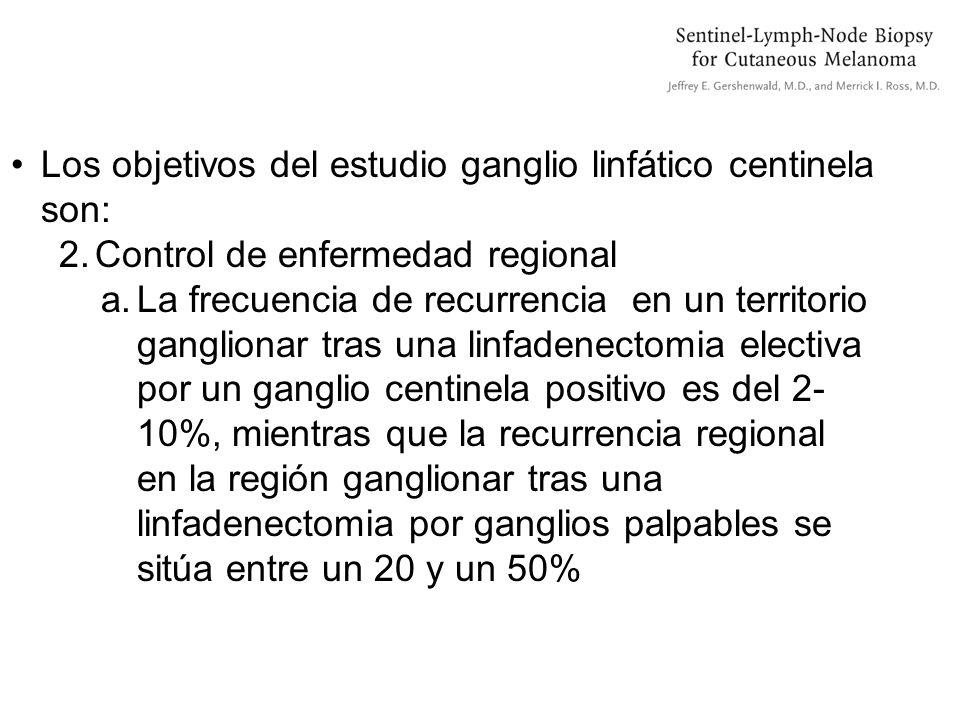 Los objetivos del estudio ganglio linfático centinela son: