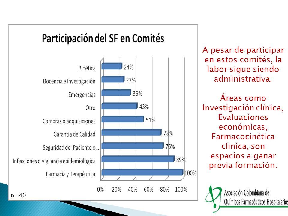 A pesar de participar en estos comités, la labor sigue siendo administrativa.