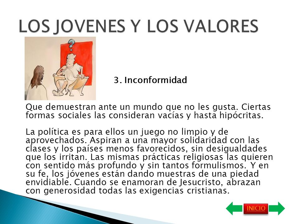LOS JOVENES Y LOS VALORES