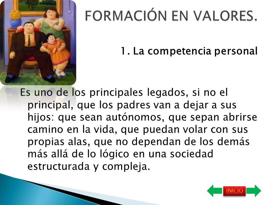 FORMACIÓN EN VALORES.