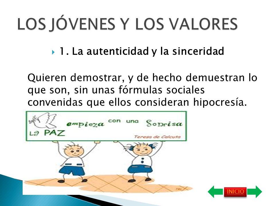 LOS JÓVENES Y LOS VALORES