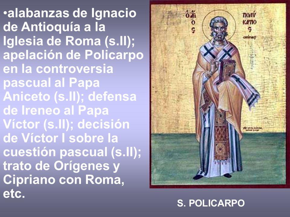 alabanzas de Ignacio de Antioquía a la Iglesia de Roma (s