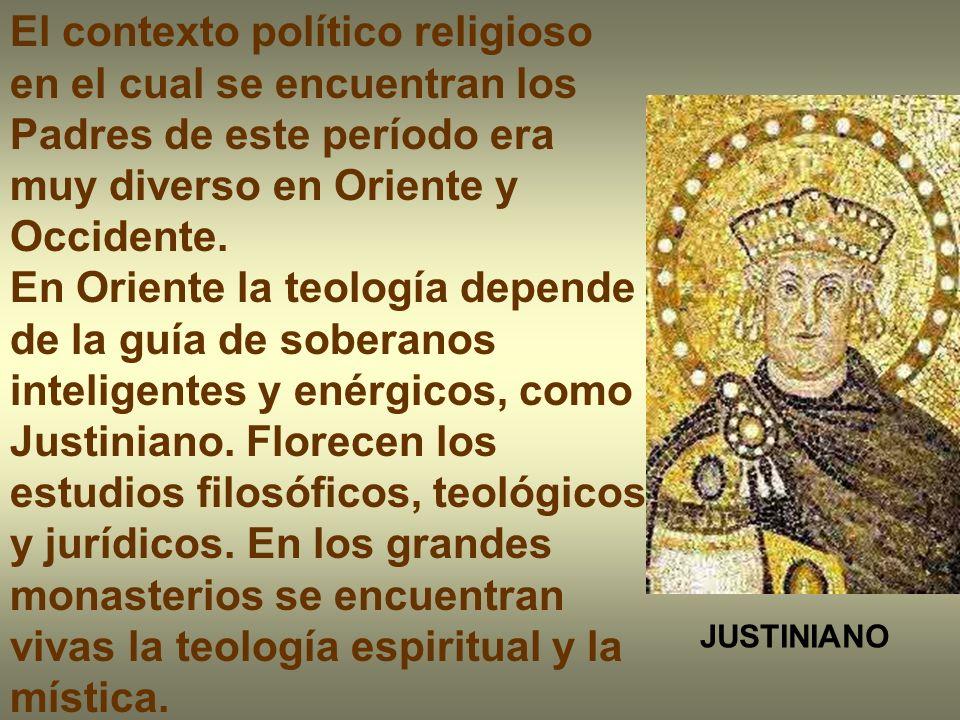 El contexto político religioso en el cual se encuentran los Padres de este período era muy diverso en Oriente y Occidente.