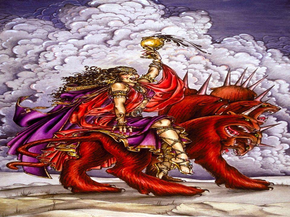 Apocalipsis 17:1-7 Y uno de los siete ángeles que tenían las siete copas, vino y habló conmigo, diciendo: Ven; te mostraré el juicio de la gran ramera que está sentada sobre muchas aguas; 2 con ella los reyes de la tierra cometieron actos inmorales, y los moradores de la tierra fueron embriagados con el vino de su inmoralidad. 3 Y me llevó en el Espíritu a un desierto; y vi a una mujer sentada sobre una bestia escarlata, llena de nombres blasfemos, y que tenía siete cabezas y diez cuernos. 4 La mujer estaba vestida de púrpura y escarlata, y adornada con oro, piedras preciosas y perlas, y tenía en la mano una copa de oro llena de abominaciones y de las inmundicias de su inmoralidad, 5 y sobre su frente había un nombre escrito, un misterio: BABILONIA LA GRANDE, LA MADRE DE LAS RAMERAS Y DE LAS ABOMINACIONES DE LA TIERRA. 6 Y vi a la mujer ebria de la sangre de los santos, y de la sangre de los testigos de Jesús. Y al verla, me asombré grandemente. 7 Y el ángel me dijo: ¿Por qué te has asombrado Yo te diré el misterio de la mujer y de la bestia que la lleva, la que tiene las siete cabezas y los diez cuernos.