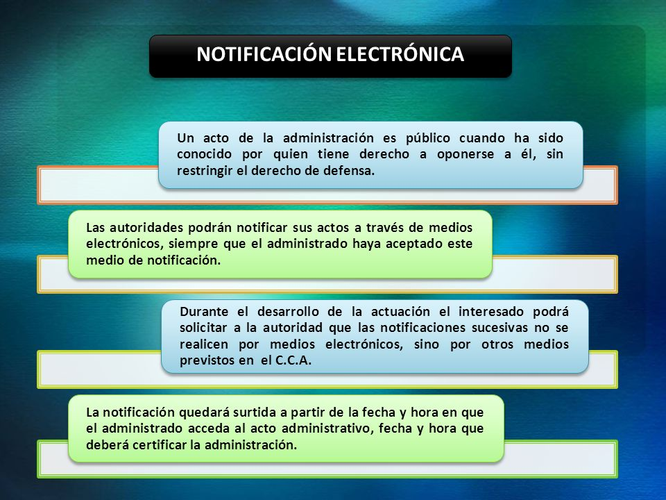 NOTIFICACIÓN ELECTRÓNICA