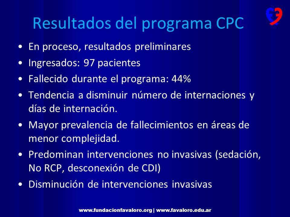 Resultados del programa CPC