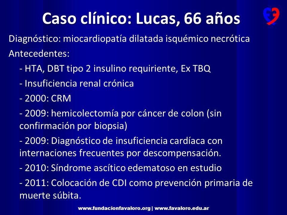Caso clínico: Lucas, 66 años