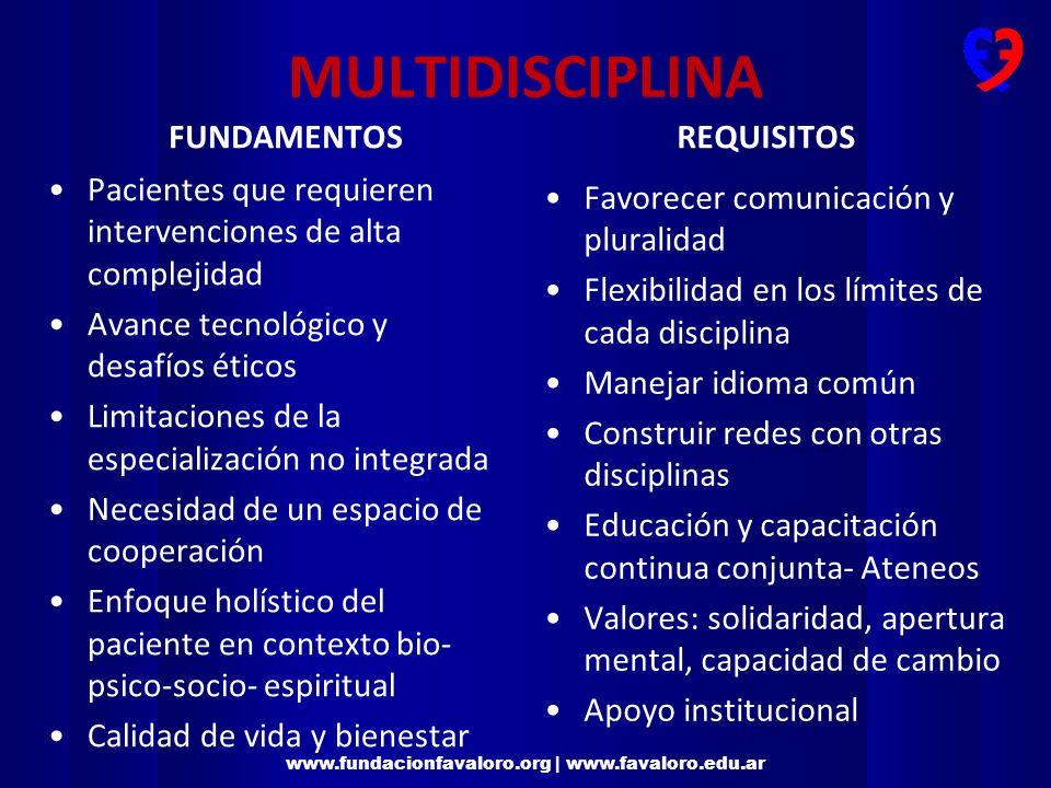 MULTIDISCIPLINA FUNDAMENTOS REQUISITOS