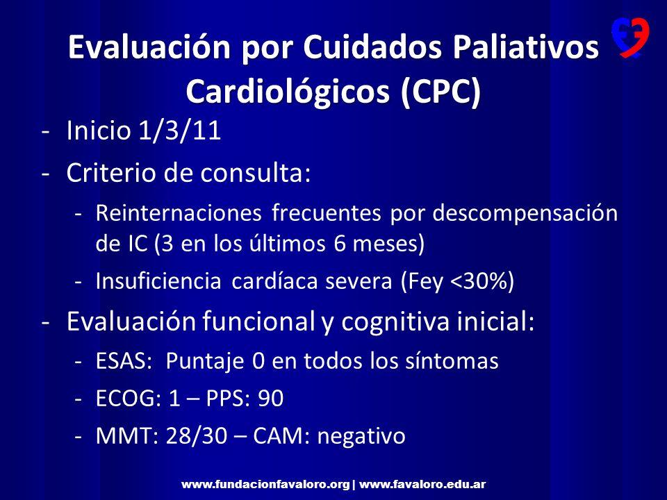 Evaluación por Cuidados Paliativos Cardiológicos (CPC)