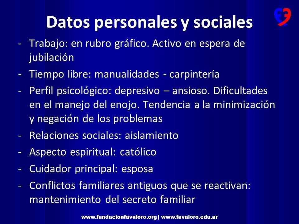 Datos personales y sociales