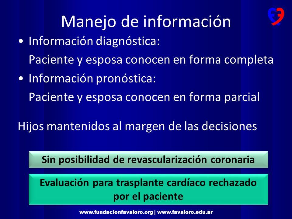 Manejo de información Información diagnóstica: