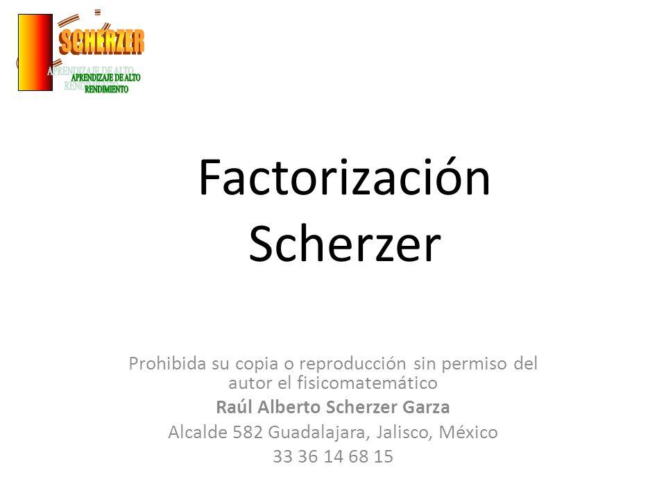 Factorización Scherzer