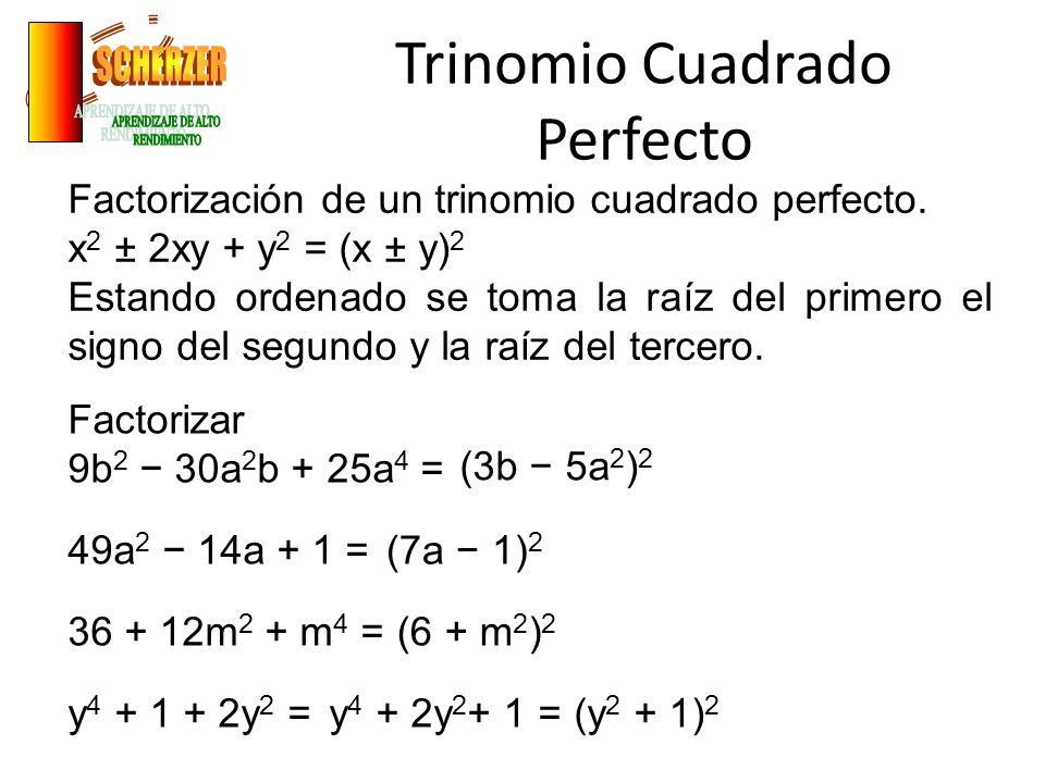 Trinomio Cuadrado Perfecto