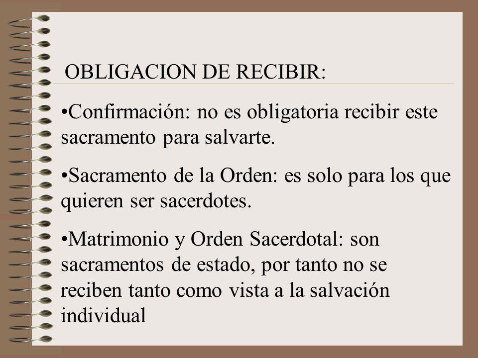 OBLIGACION DE RECIBIR: