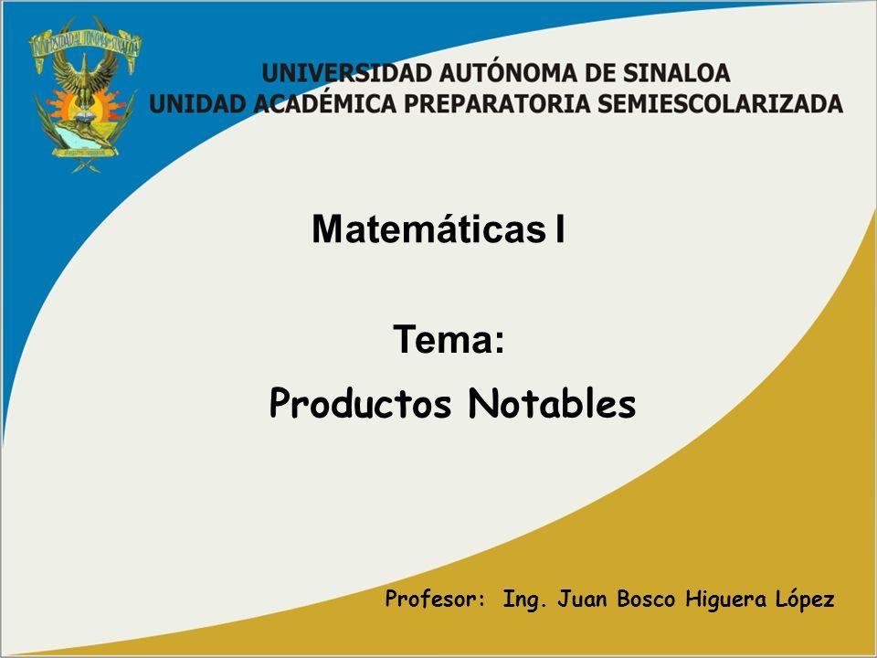 Profesor: Ing. Juan Bosco Higuera López