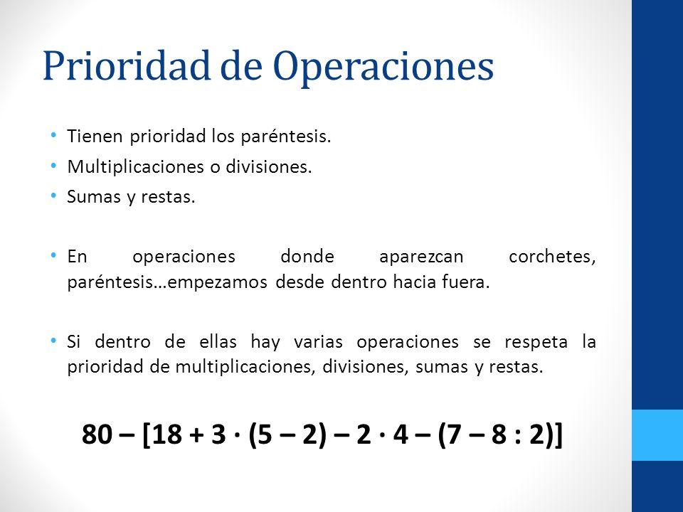 Prioridad de Operaciones