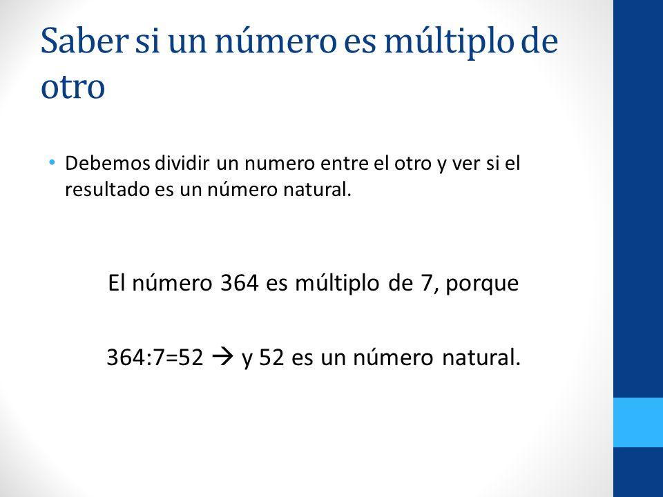 Saber si un número es múltiplo de otro