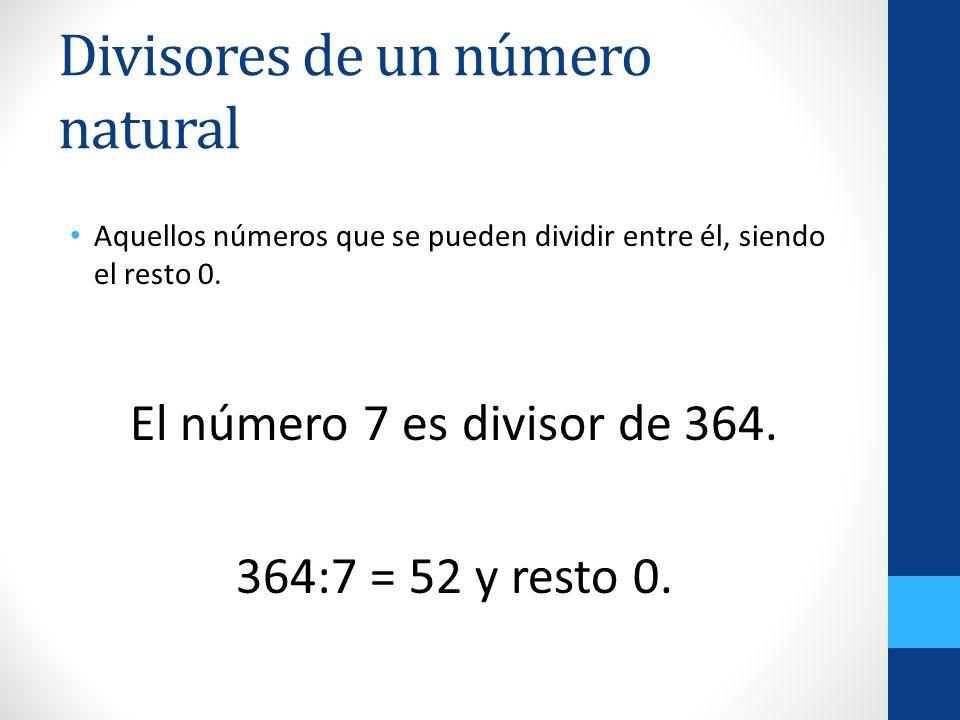 Divisores de un número natural