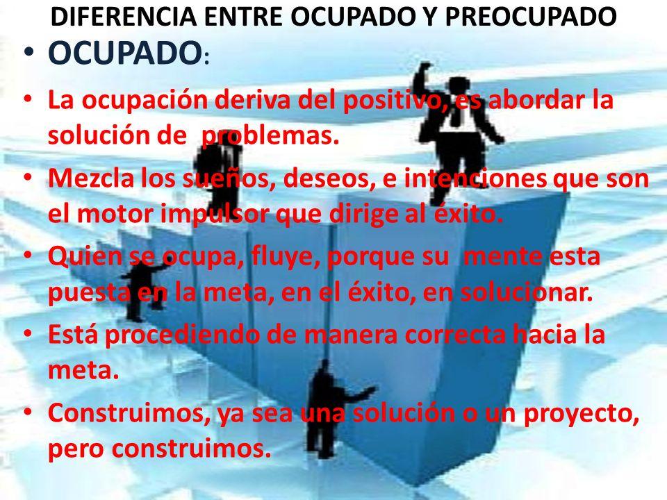 DIFERENCIA ENTRE OCUPADO Y PREOCUPADO