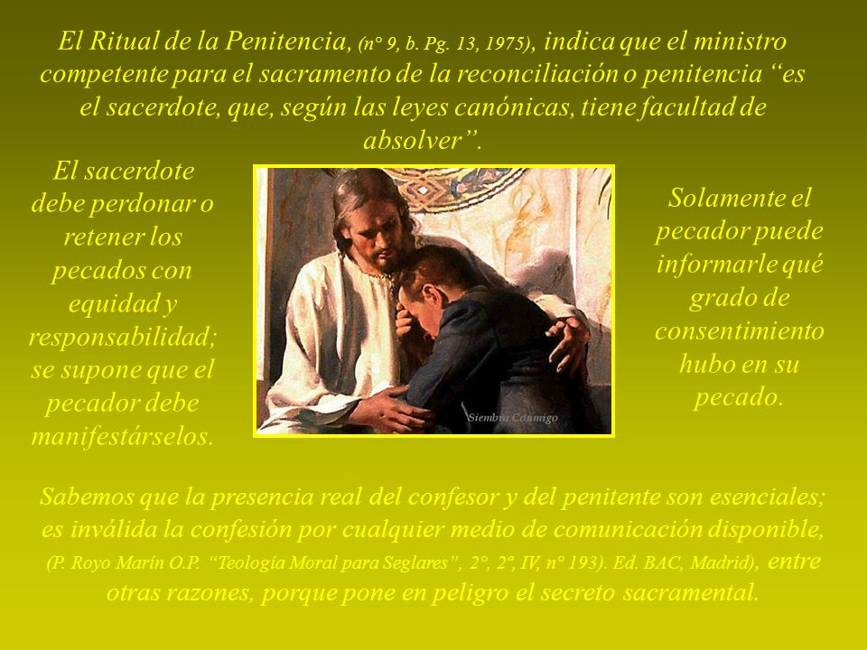 El Ritual de la Penitencia, (n° 9, b. Pg