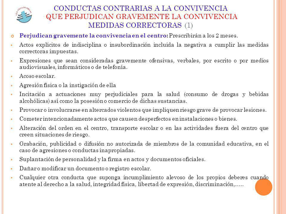 CONDUCTAS CONTRARIAS A LA CONVIVENCIA
