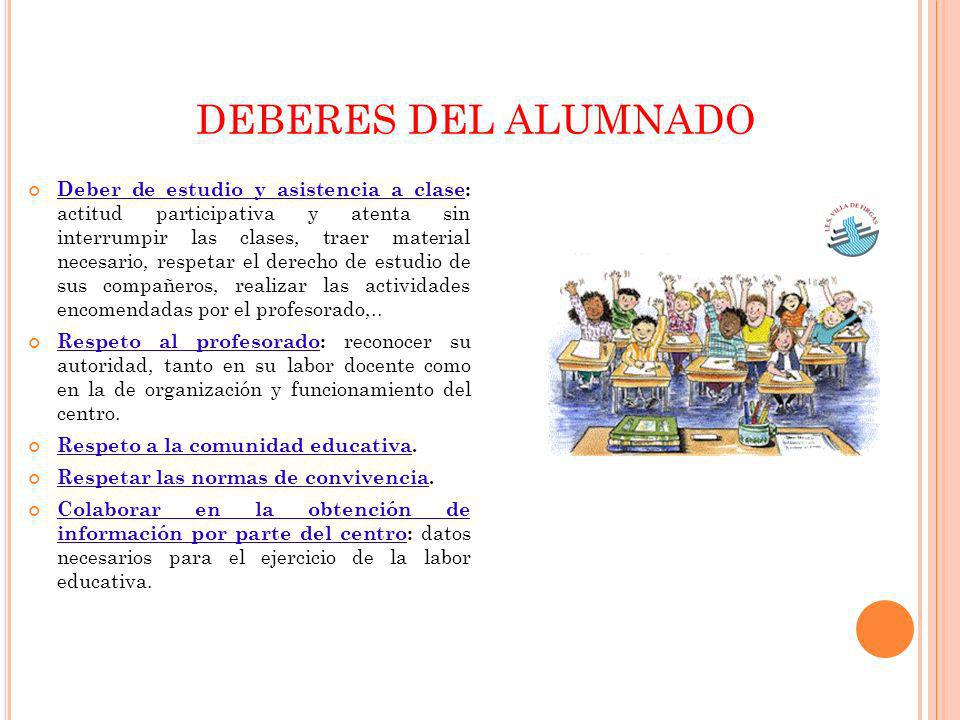 DEBERES DEL ALUMNADO