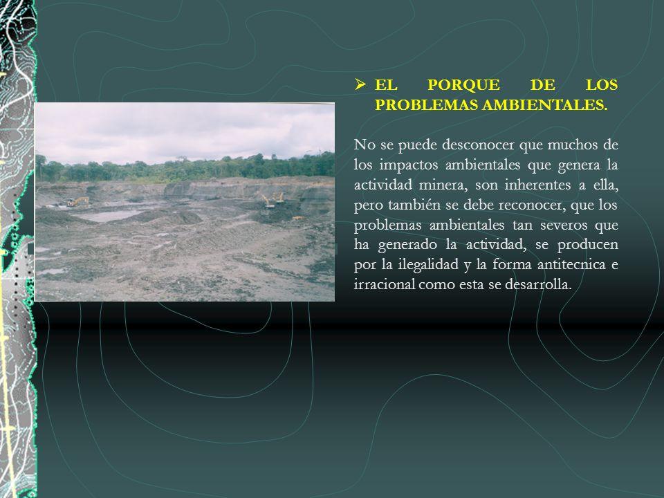 EL PORQUE DE LOS PROBLEMAS AMBIENTALES.