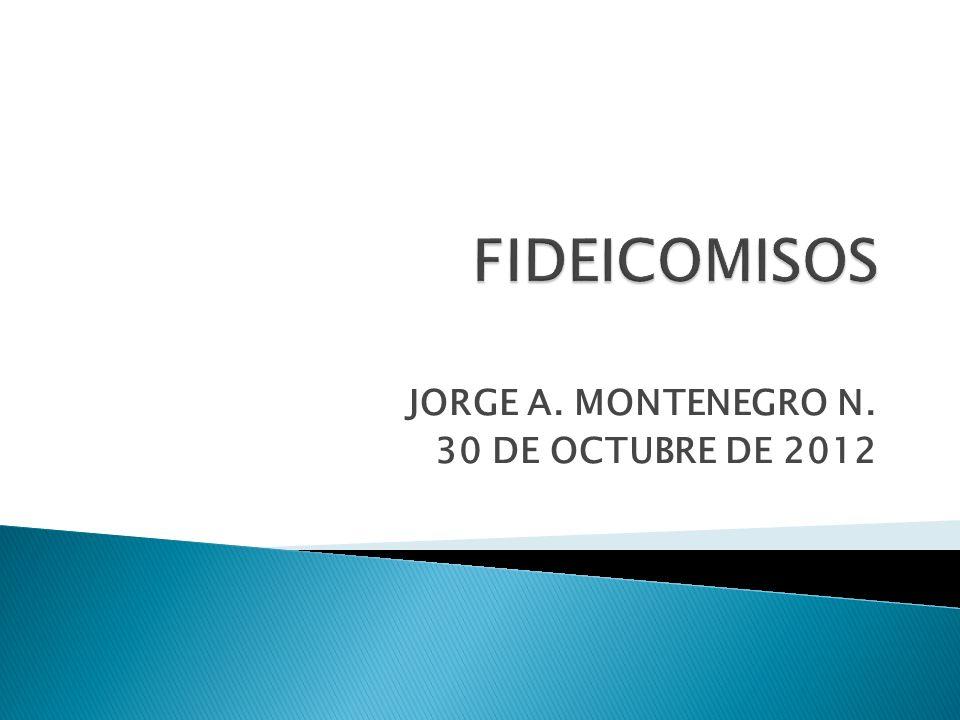 JORGE A. MONTENEGRO N. 30 DE OCTUBRE DE 2012