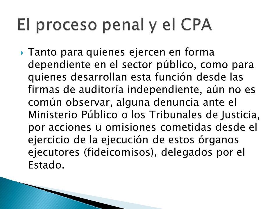 El proceso penal y el CPA