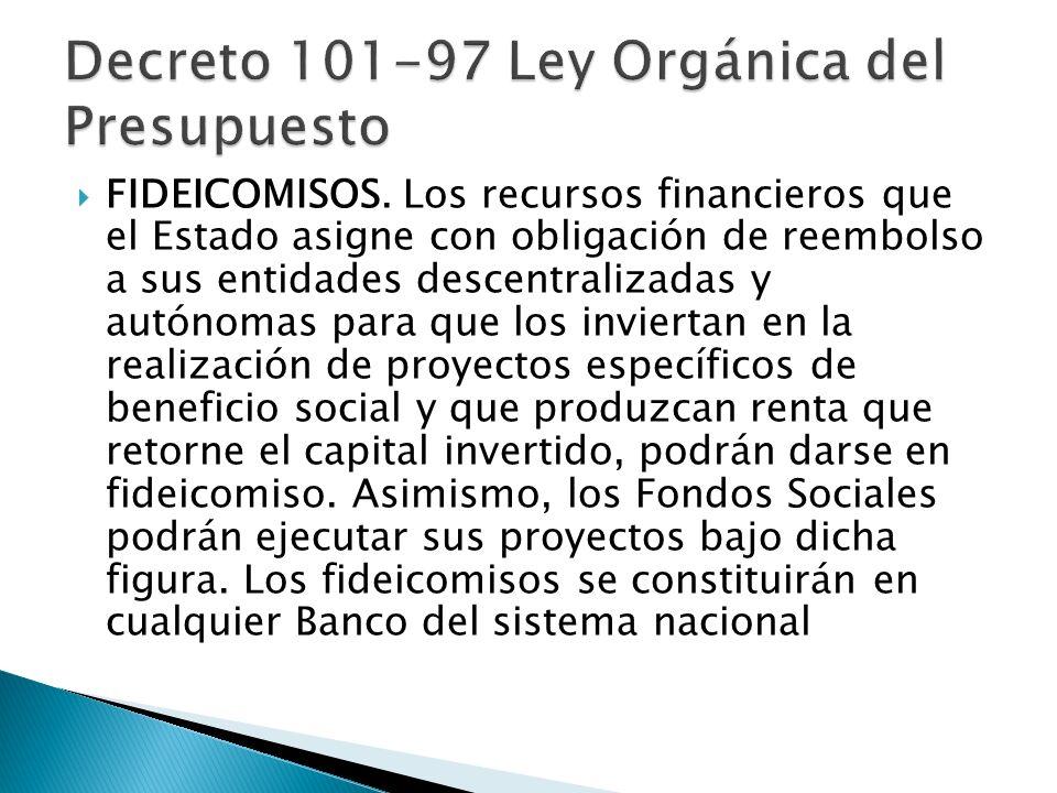 Decreto 101-97 Ley Orgánica del Presupuesto