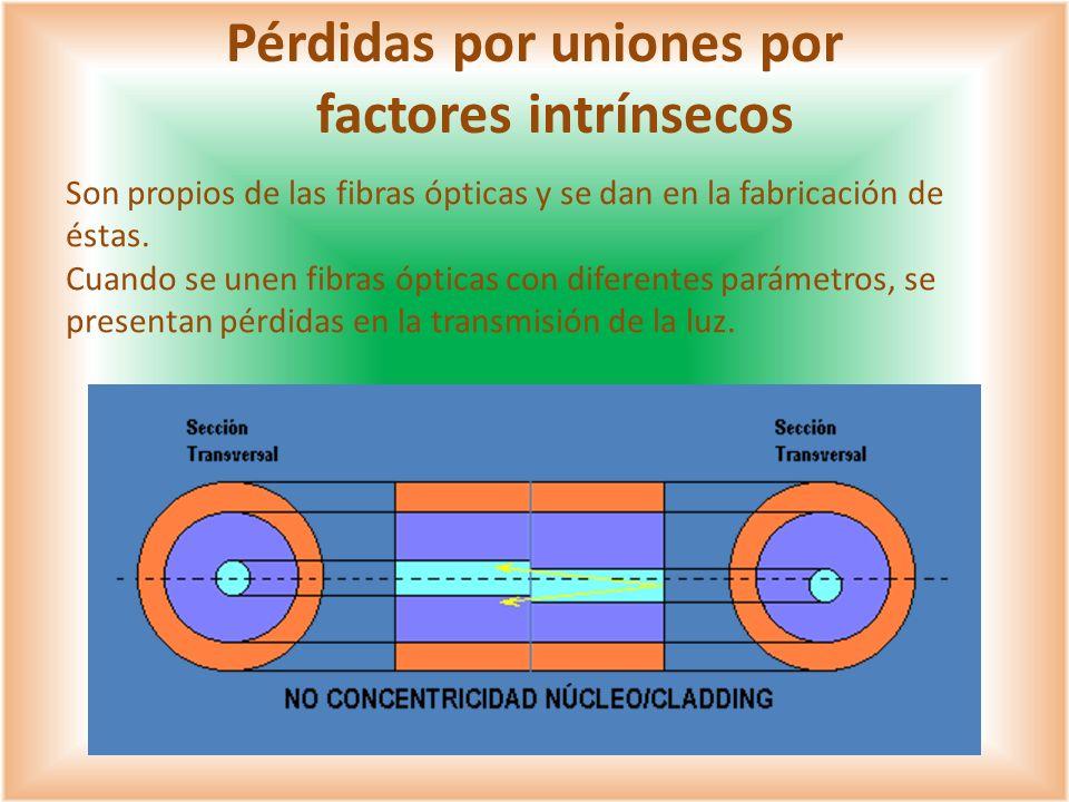 Pérdidas por uniones por factores intrínsecos