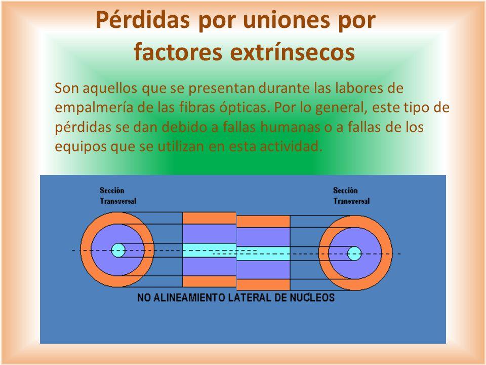 Pérdidas por uniones por factores extrínsecos