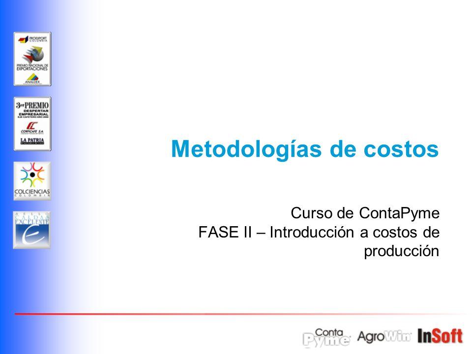 Metodologías de costos