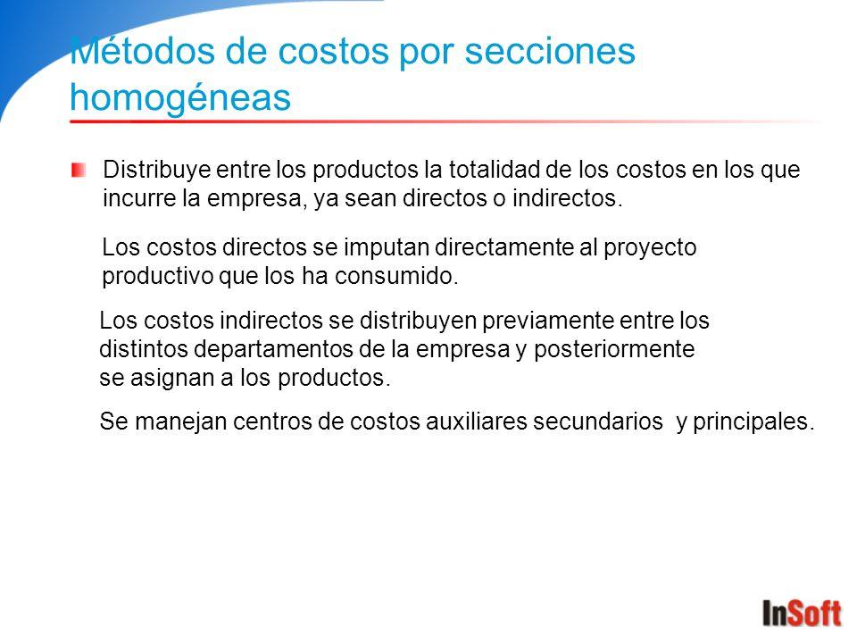 Métodos de costos por secciones homogéneas