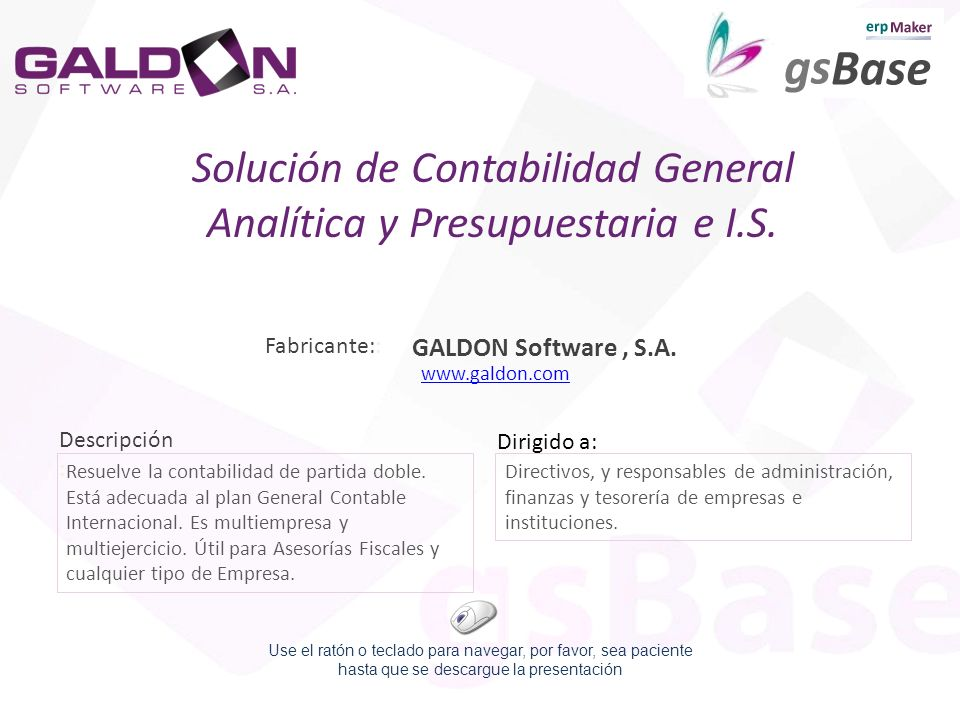 Solución de Contabilidad General Analítica y Presupuestaria e I.S.
