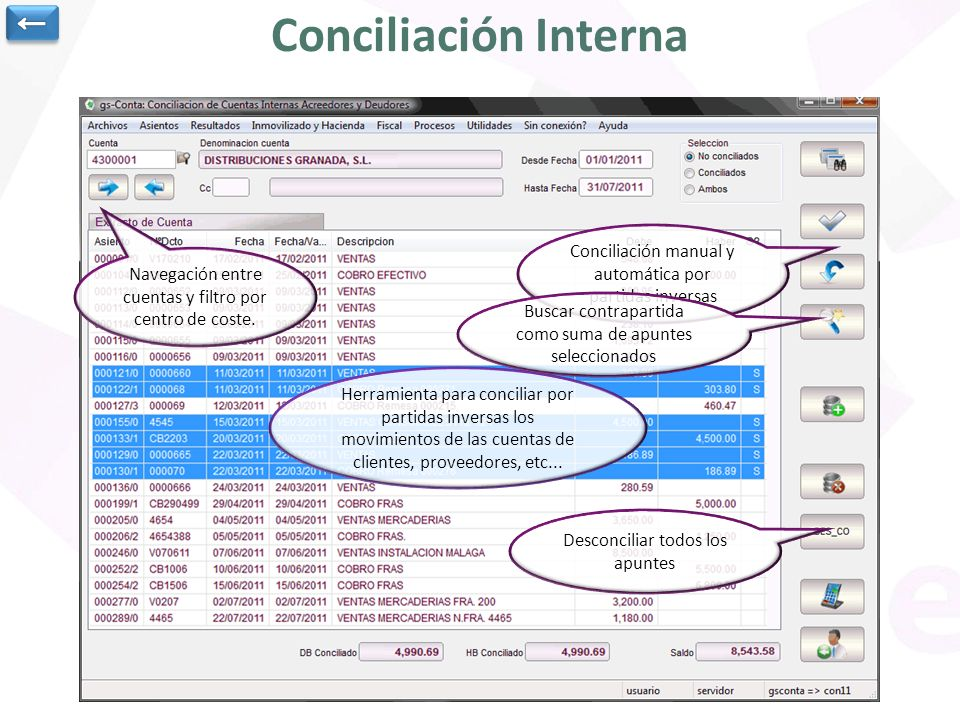 Conciliación Interna ←
