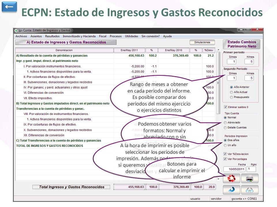 ECPN: Estado de Ingresos y Gastos Reconocidos