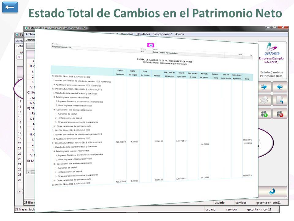 Estado Total de Cambios en el Patrimonio Neto