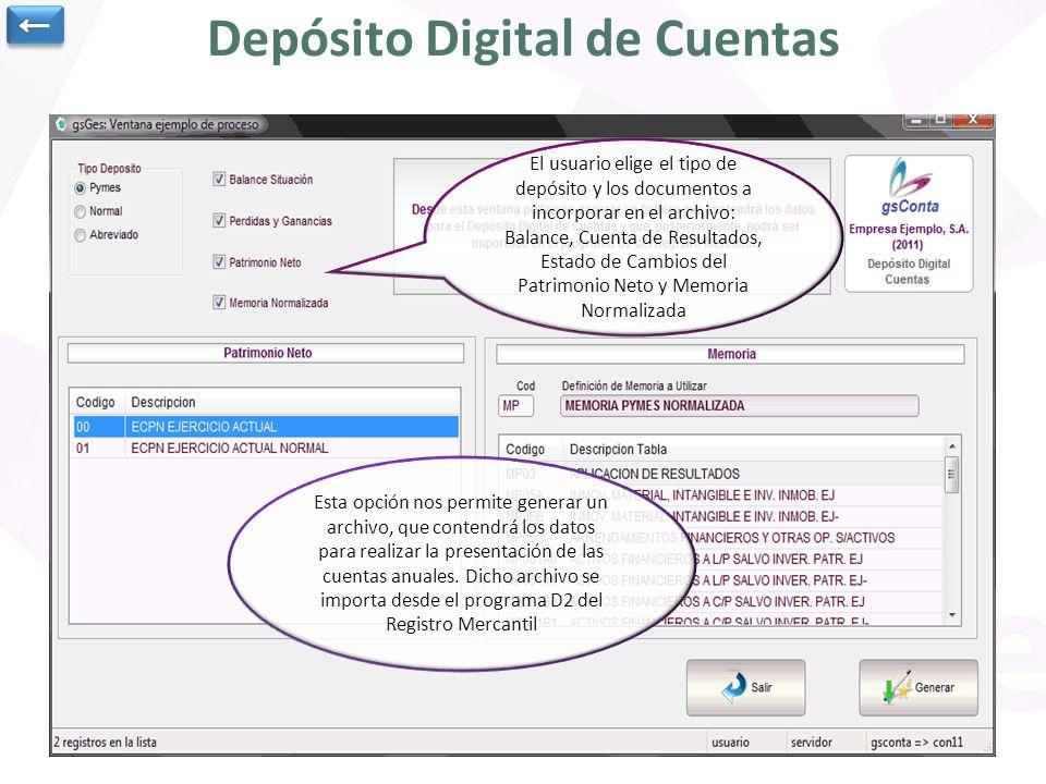Depósito Digital de Cuentas